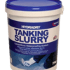 This is HydraDRY Tanking Slurry in a bucket from the Damp Store